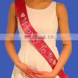 2017 new hot sell red bride satin sash