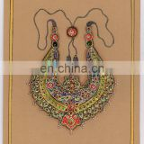 Traditional Jewellery Painting Water Color Painting With Original Gold Work Hand Painted Rajasthan Art