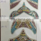 wholesale fashion lady shoes accessory iron on crystal rhinestone sheet shoes uppers appliques