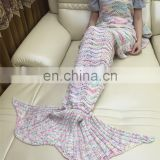 Wholesale knit pattern crotched Mermaid Tail high end Crocheted Blanket from China supplier