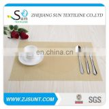 Dish cream-white placemat with PVC