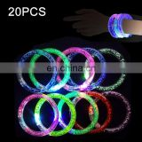 20 PCS LED Light Up Bracelet Colorful Flashing Acrylic Glowing Toys Party Decoration Supplies, Random Color Delivery