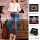 OEM OED high wasit usa sexy ladies butt lift blue jeans pants sexy ladies leggings trousers factory wholesale