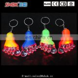 Promotion item foot flashing led keychain for kids