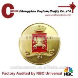 Custom gold plated tungsten coin/challenge coin collection