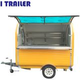 CE ISO approved mobile fiberglass food caravan trailer kitchen for sale