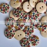 wooden craft shirt button Natural custom laser engraved printed wooden buttons for baby sweater