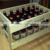 Custom made color and logo wooden beer bottle crate                                                                         Quality Choice
