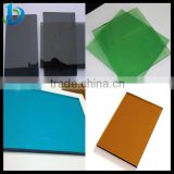 Hot sale 5mm 8mm Green/Blue/Bronze/Gray Colored Glass sheets