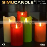 led flameless candle new product with USA and EU patent with remote,led candle for party