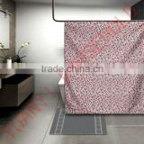 bright color shower curtains block printed shower curtain