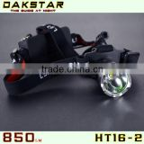 DAKSTAR Hot Selling HT16-2 XML T6 850LM 18650 Rechargeable Hunting Lights CREE LED Headlamp