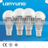 New design good heat dissipation energy saving CE/RoHS aluminium PC led bulb with isolated driver