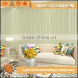 Classic Stripe Style Style PVC Material Top Quality Latest Design Design Wallpaper For Print