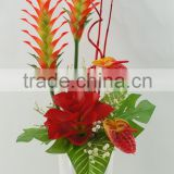 Artificial fake flower bonsai with anthurium & lavender & ginger/artificial flower wholesale China supplier for home decor