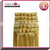 popular color hair goods in USA clip in human hair extensions