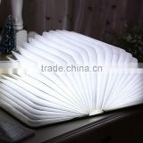 Rechargeable Folding Book Night Light Changeable Shape Battery Operated Fixture Beautiful Table Lamp Lights