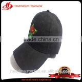 Custom trendy 6 panel Suede embroidery women baseball cap
