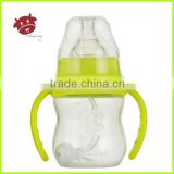 150ml/5oz food-grade silicone pp bottle, wide neck pp baby bottle, automatic grip arc pp baby feeding bottle
