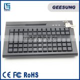 Black USB interface POS 78 keys programmable keyboard