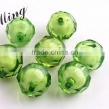 Dark Green Color Chunky Acrylic Round Transparent Plastic Facted Beads in Beads 8mm to 20mm Stock ,Paypal Accept