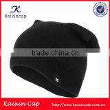 wholesale cheap promotion Soft custom Knit baby crochet 100% acrylic winter Slouchy Beanie Hat cap
