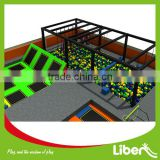 Popular Newest Games Large Indoor Amusement Trampoline Games Park with Foam Pit Basketball and Climbing Wall