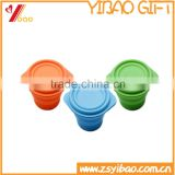 Silicone Foldable Travel Cup/Portable Silicone Cup With Cover