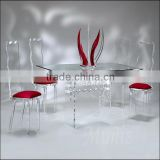 Tri Leg Acrylic Table / acrylic coffee table / acrylic consoloe table / acrylic display table