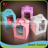 plain craft chololate box with PVC window