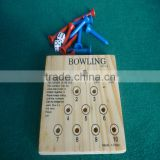 travel game set/mini game set/portable game set/mini bowling game set/wooden table bowling game