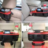 Hot sale plastic car seat back seat beside Storage box with handle