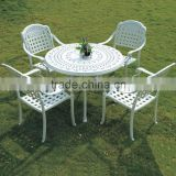 French Accent Round Classic Cast Aluminum Restaurant Dining table and chair furniture