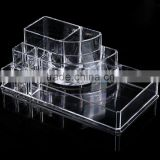 New ACEVIVI Acrylic Clear Makeup Cosmetic Drawers Grids 2 Tiers Display Desktop Home Storage Cosmetics Containers OS004876
