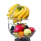 2015 Best Selling Fruit Basket With Banana Holder/Chrome Metal Wire Hanger/metal wire fruit basket