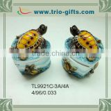 Wholesale Customized Polyresin turtle trinket box