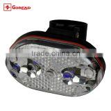 Goread 9 LED multi-function caution light Tail bike light 3 colors light