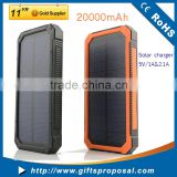 Waterproof solar charger for mobile phone Universal Charger Mobile Power Bank with camping light