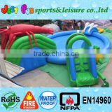 amazing summer inflatable games, lobster slide with pool, mini water park for kids