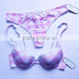 Beautiful girls sexy bra and panties new design