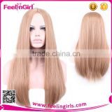 High quality fashion synthetic straight wig for ladies