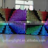 Flexible soft curtain wall decoration / video led curtain screen