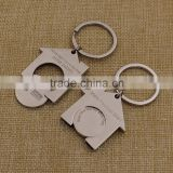 Custom metal trolley coin keyring coin holder keychain                                                                                                         Supplier's Choice
