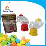 clear plastic candy dispenser/pucker powder 12 flavour candy dispenser/candy dispenser toy