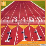 All weather 13mm thick rubber flooring for running track