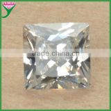 wholesale machine cut faceted square princess cut white synthetic stones cubic zirconia price