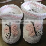 Very Cute Handmade Crochet Baby's Cotton Booties