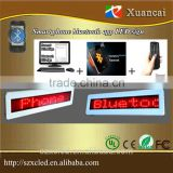 Newly smart phone Bluetooth app edit/calling operation led bluetooth message display sign