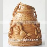Gifts bamboo root carving ornaments crab creel / handmade bamboo carving creative gifts