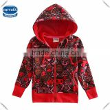 18M-6Y (F3472) nova kids factory producing stock fleece baby girls hoodies winter printed hoodies children clothing winter coats
